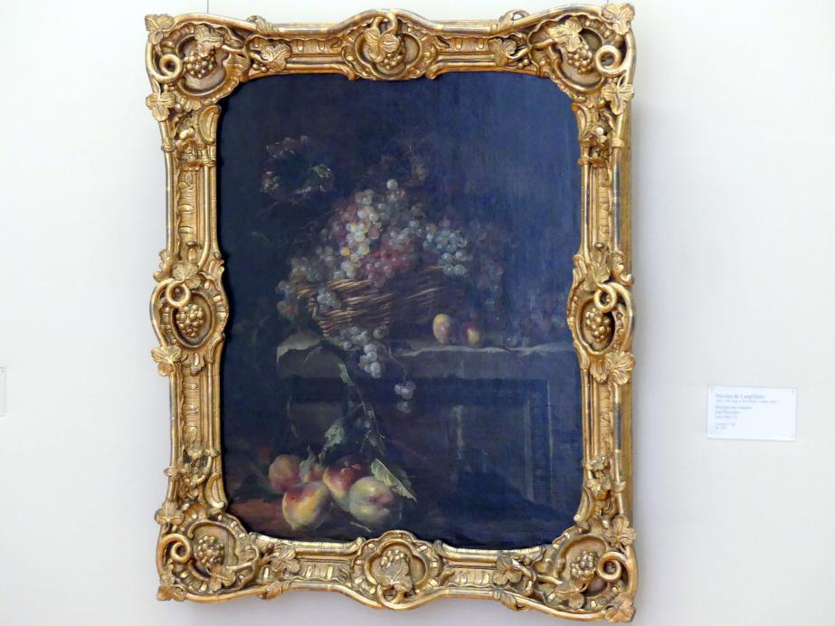 Nicolas de Largillière: Stillleben mit Trauben und Pfirsichen, um 1680