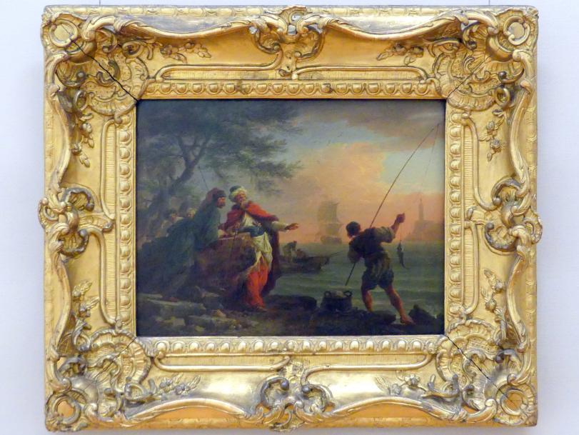 Claude Joseph Vernet: Vornehme Türken, am Strande beim Fischfang zuschauend, um 1755