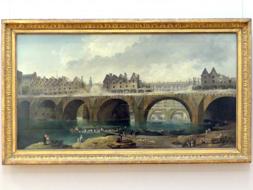 Hubert Robert: Abbruch der Häuser auf der Notre-Dame-Brücke, 1787