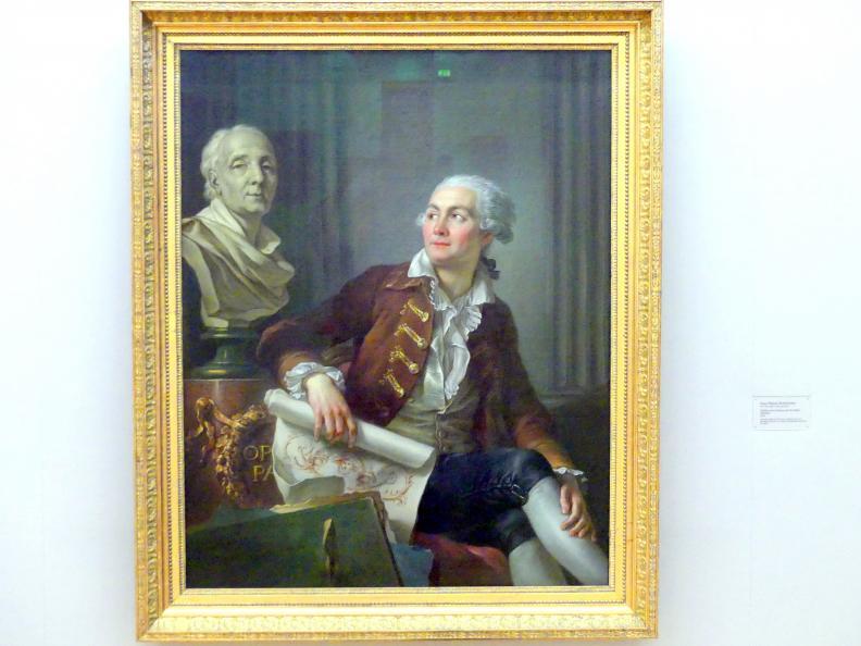 Jean-Simon Berthélemy: Bildnis eines Mannes mit der Büste Diderots, 1784