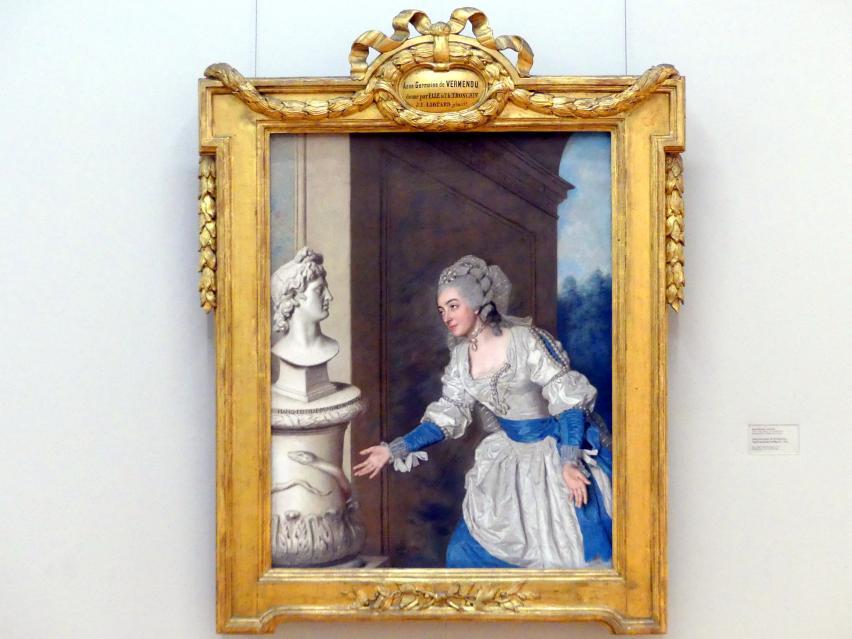 Jean-Étienne Liotard: Anne-Germaine de Vermenoux, Apoll-Aeskulap huldigend, 1764