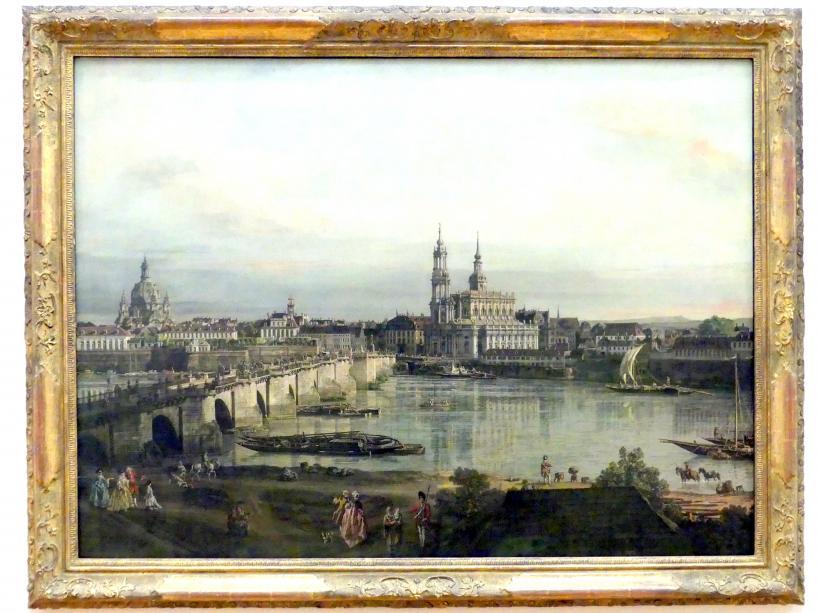 Bernardo Bellotto (Canaletto): Blick auf Dresden vom Neustädter Brückenkopf, 1765