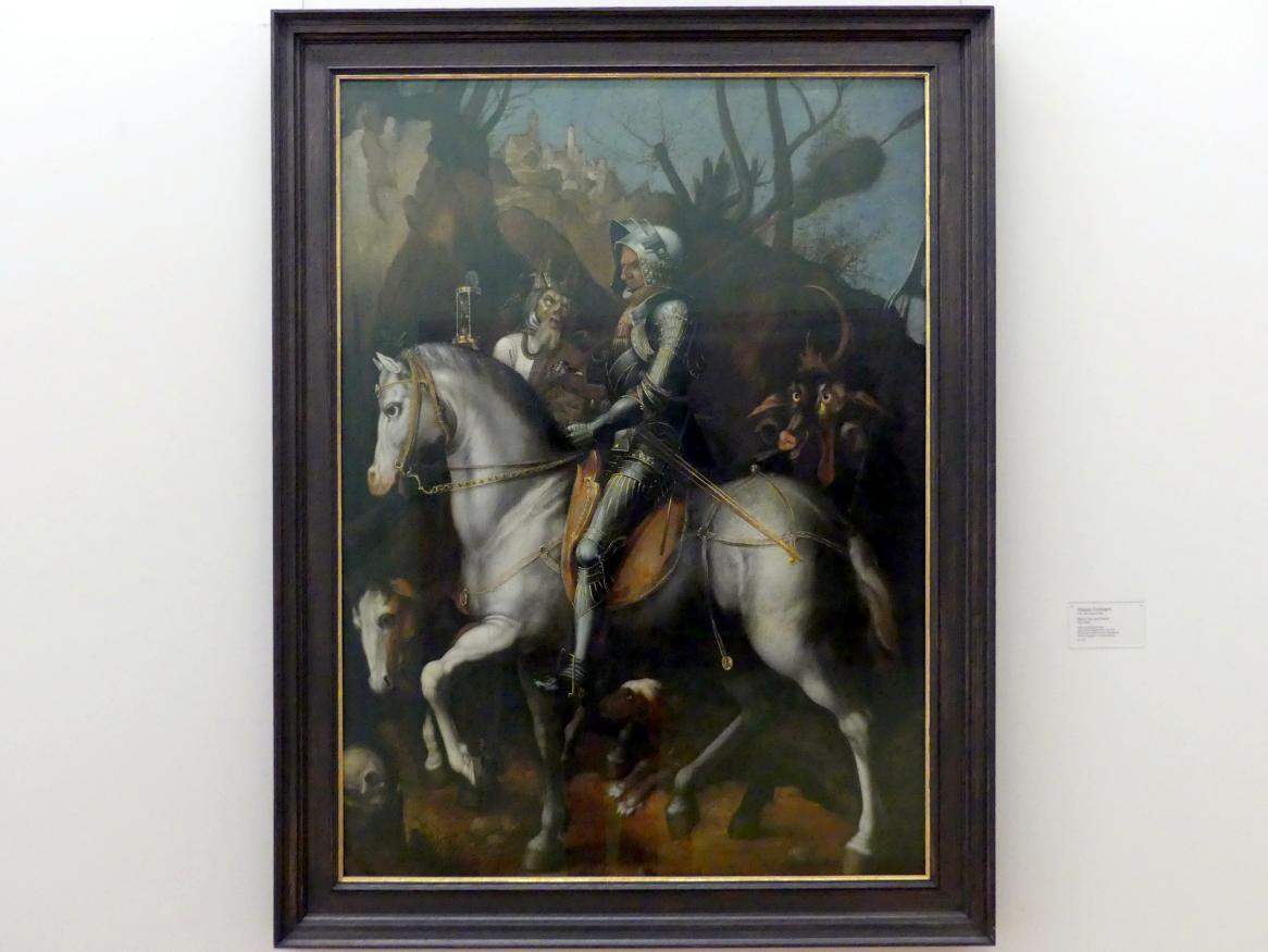 Johann Geminger: Ritter, Tod und Teufel, um 1590