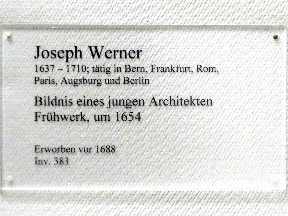 Joseph Werner der Jüngere: Bildnis eines jungen Architekten, 1654, Bild 2/2