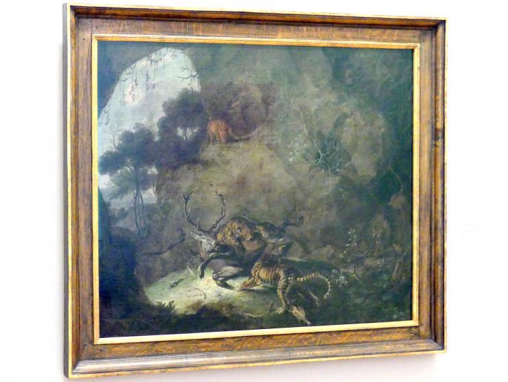 Carl Borromäus Andreas Ruthard: Tiger, einen Hirsch reißend, 1663