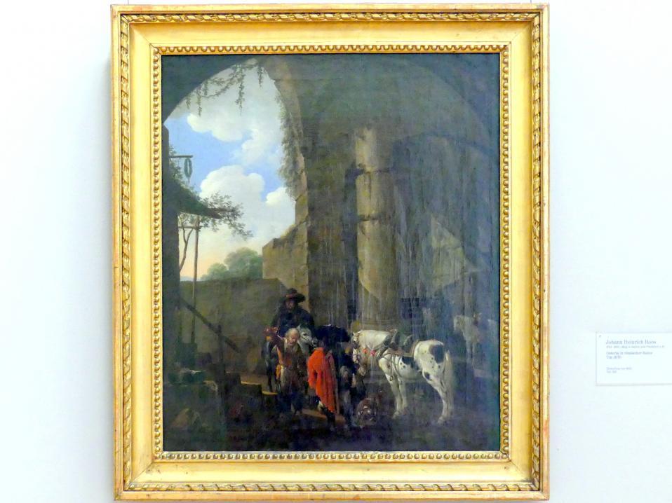 Johann Heinrich Roos: Osteria in römischer Ruine, um 1670