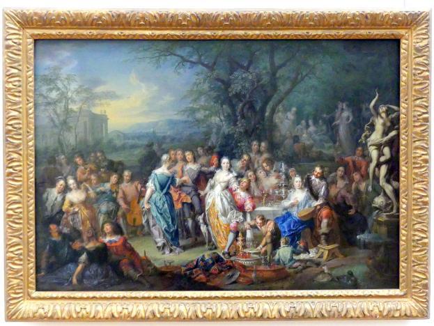 Franz Christoph Janneck: Vornehme Gesellschaft im Park, um 1750