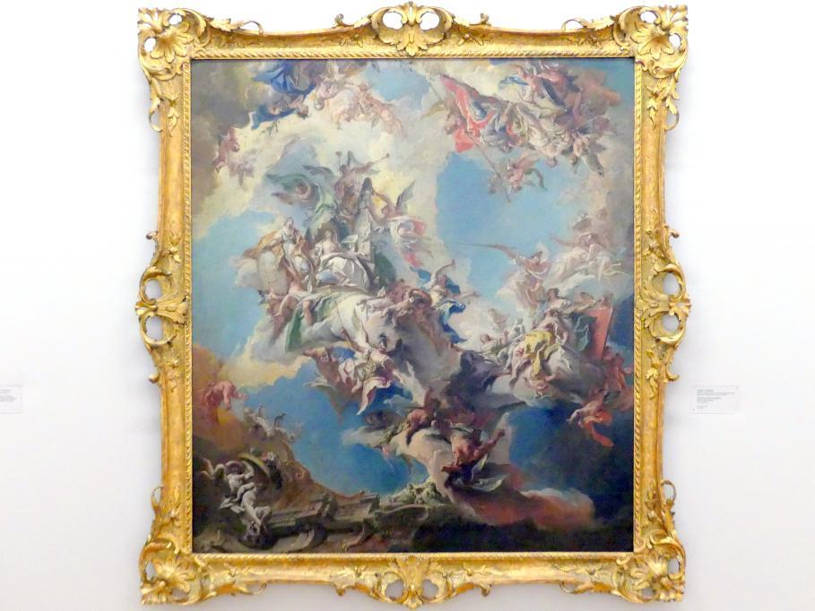 Carlo Innocenzo Carlone: Fürstliche Hochherzigkeit fördert die Künste, um 1748 - 1749