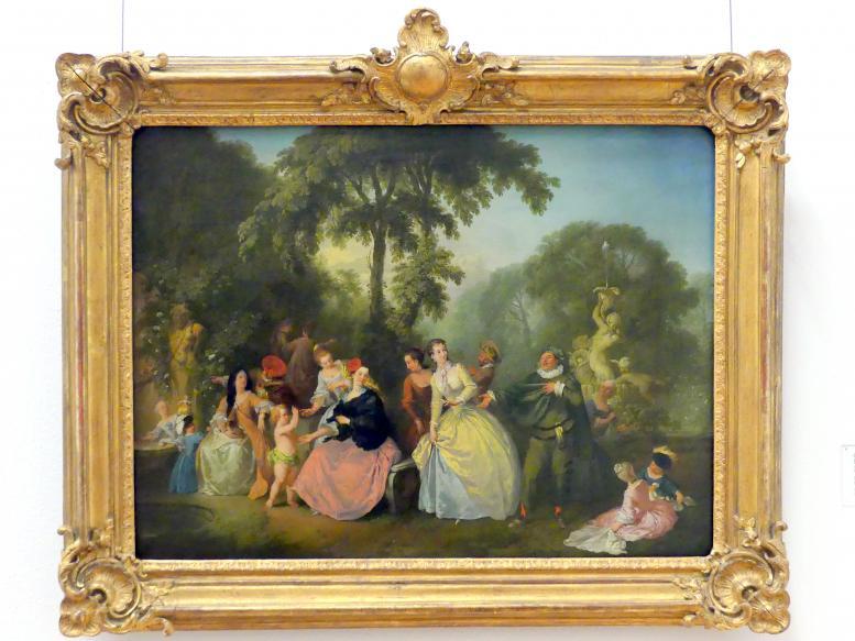 Christian Wilhelm Ernst Dietrich: Eine Gesellschaft im Park, um 1750