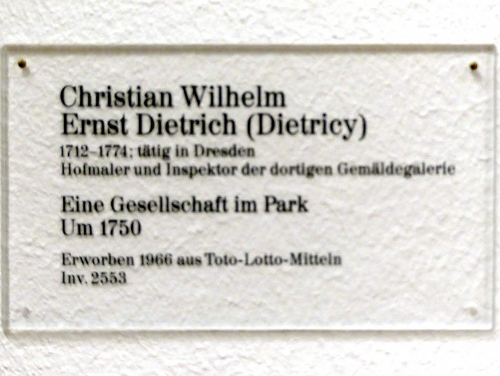 Christian Wilhelm Ernst Dietrich: Eine Gesellschaft im Park, um 1750, Bild 2/2
