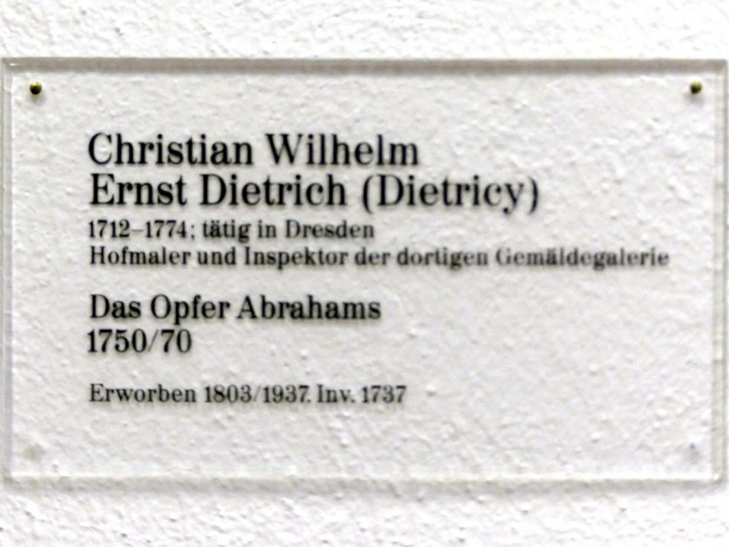 Christian Wilhelm Ernst Dietrich: Das Opfer Abrahams, 1750 - 1770, Bild 2/2