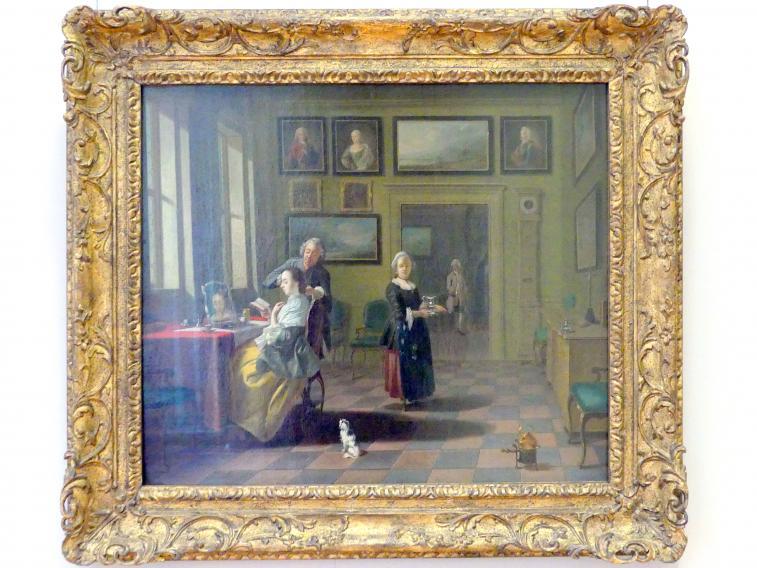 Justus Juncker: Bei der Morgentoilette, 1752