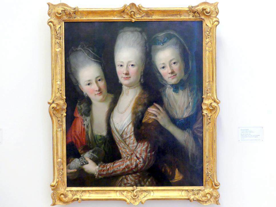Anton Graff: Die drei Töchter des Johann Julius von Vieth und Golssenau, kursächsischer Geheimer Kriegsrat, um 1773