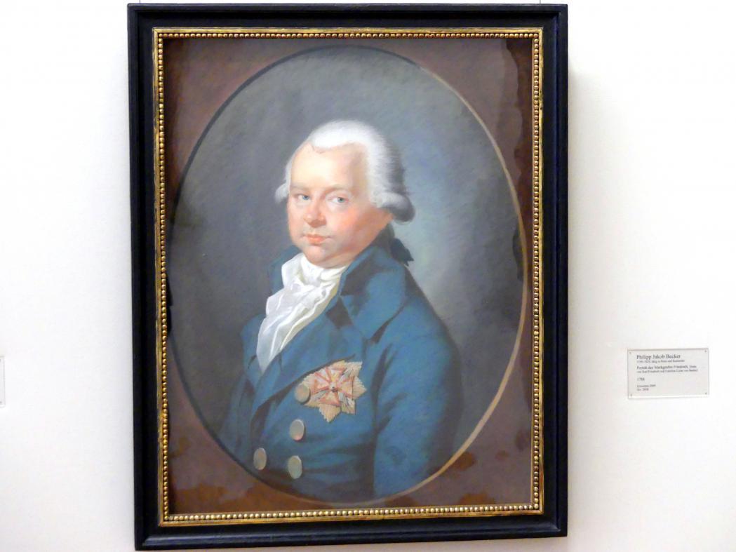 Philipp Jakob Becker: Porträt des Markgrafen Friedrich, 1788