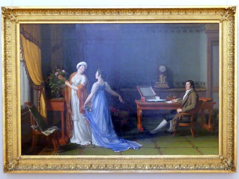 François-André Vincent: Der Graf de La Forest mit Frau und Tochter, 1804