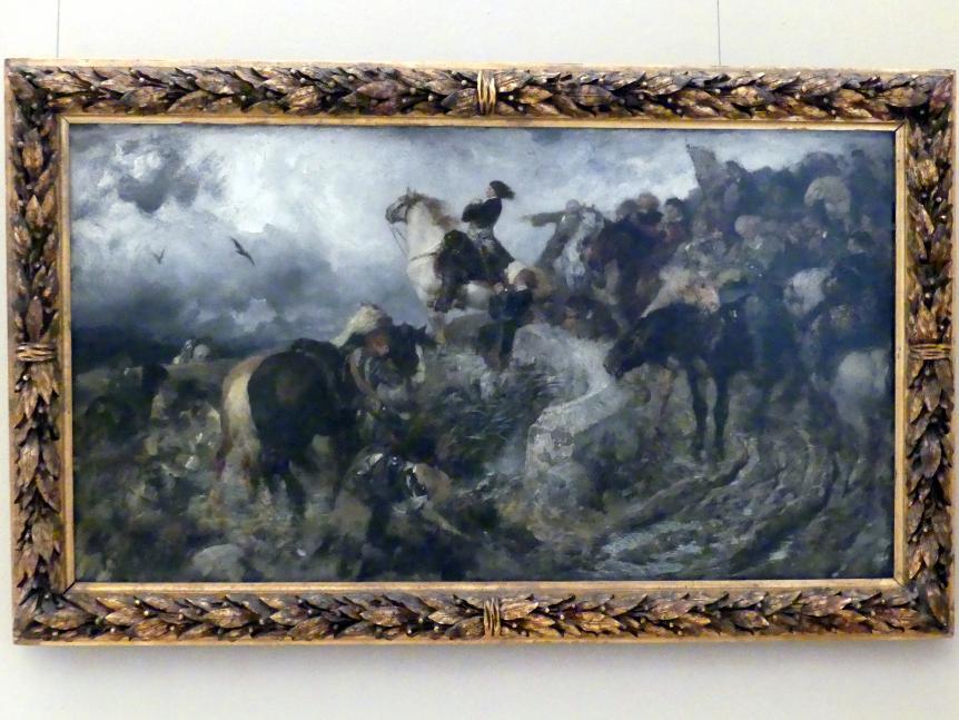 Ferdinand Keller: Der Große Kurfürst vor der Schlacht von Fehrbellin im Jahre 1675, 1884