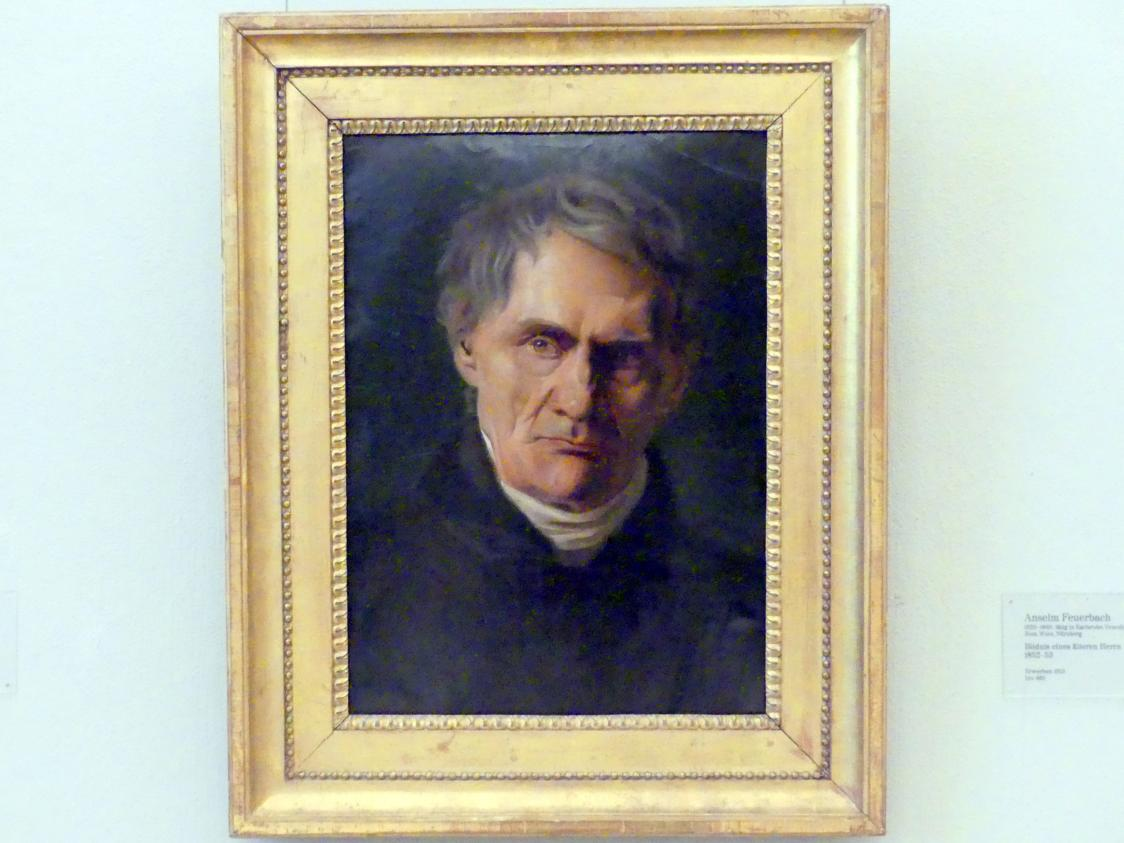 Anselm Feuerbach: Bildnis eines älteren Herrn, 1852 - 1853