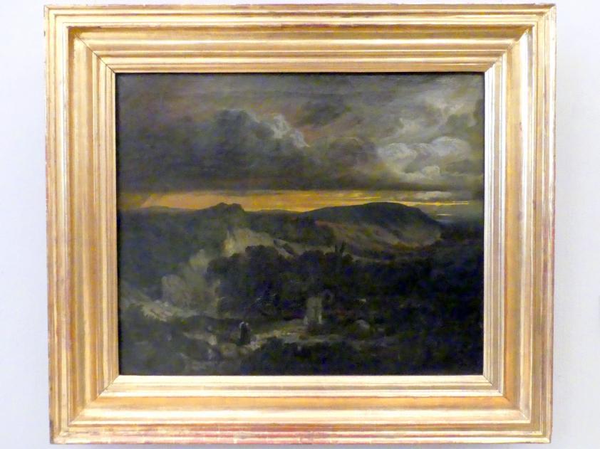 Anselm Feuerbach: Abendliche Landschaft mit heimkehrendem Einsiedler, 1849 - 1850