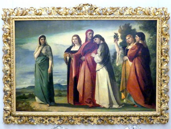Anselm Feuerbach: Dante und die edlen Frauen von Ravenna, 1857