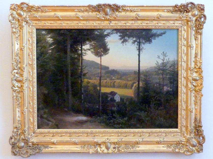 Johann Wilhelm Schirmer: Das Oostal mit Blick auf die Rheinebene, abends von Lichtental aus, 1855