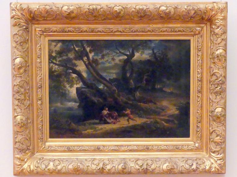 Johann Wilhelm Schirmer: Der Überfall auf den Wanderer, um 1857