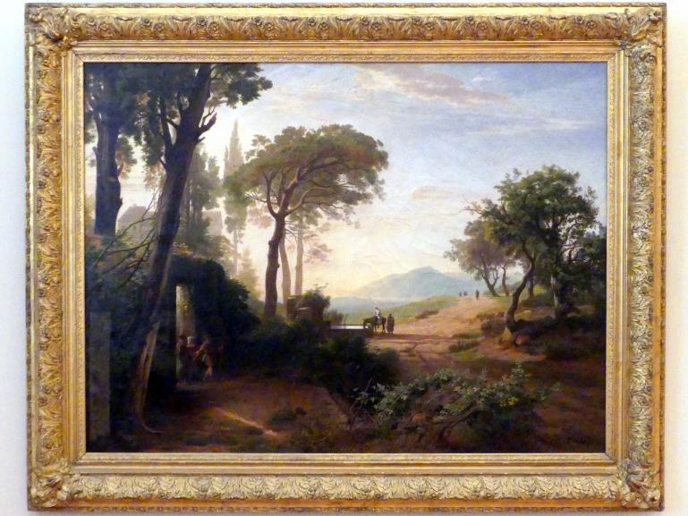 Johann Wilhelm Schirmer: Der Morgen (Der Abschied des Wanderers), 1857