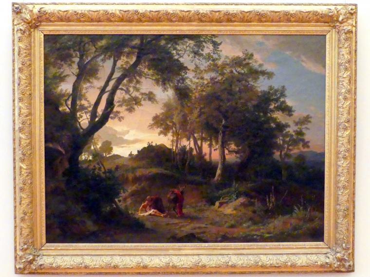 Johann Wilhelm Schirmer: Der Abend (Der Barmherzige Samariter), 1857