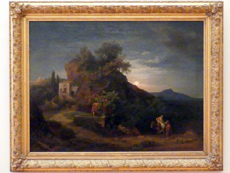 Johann Wilhelm Schirmer: Die Nacht (Die Ankunft in der Herberge), 1857