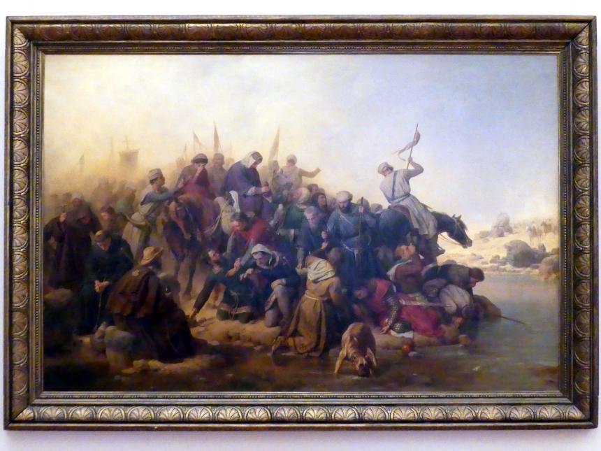 Carl Friedrich Lessing: Die Kreuzfahrer in der Wüste, 1863