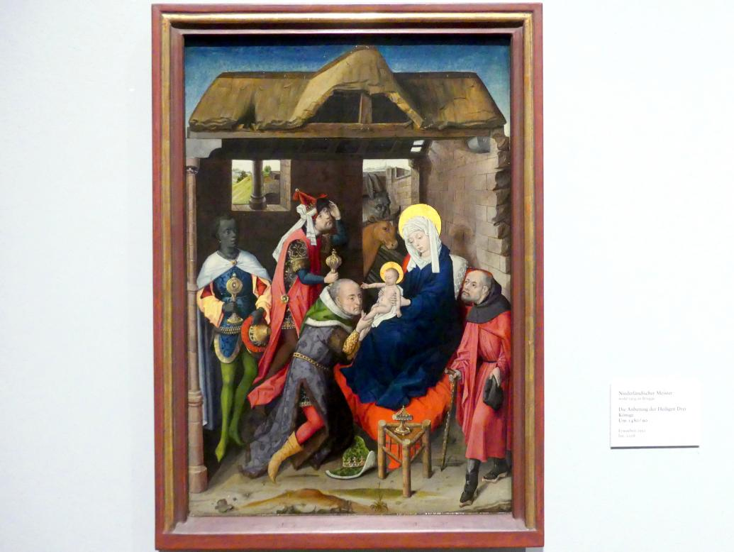 Die Anbetung der Heiligen Drei Könige, um 1480 - 1490