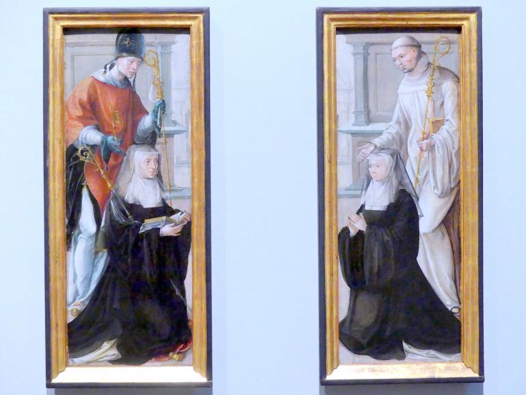 Die Heiligen Servatius und Bernhard mit knienden Stifterinnen, einer Äbtissin und einer Nonne, um 1530 - 1540
