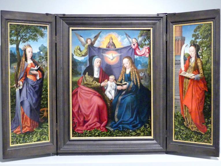 """Meister von Frankfurt: """"Anna Selbdritt-Triptychon"""", um 1510"""
