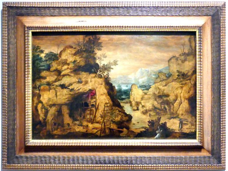 Bartholomäus Spranger: Gebirgslandschaft mit Einsiedler, um 1569