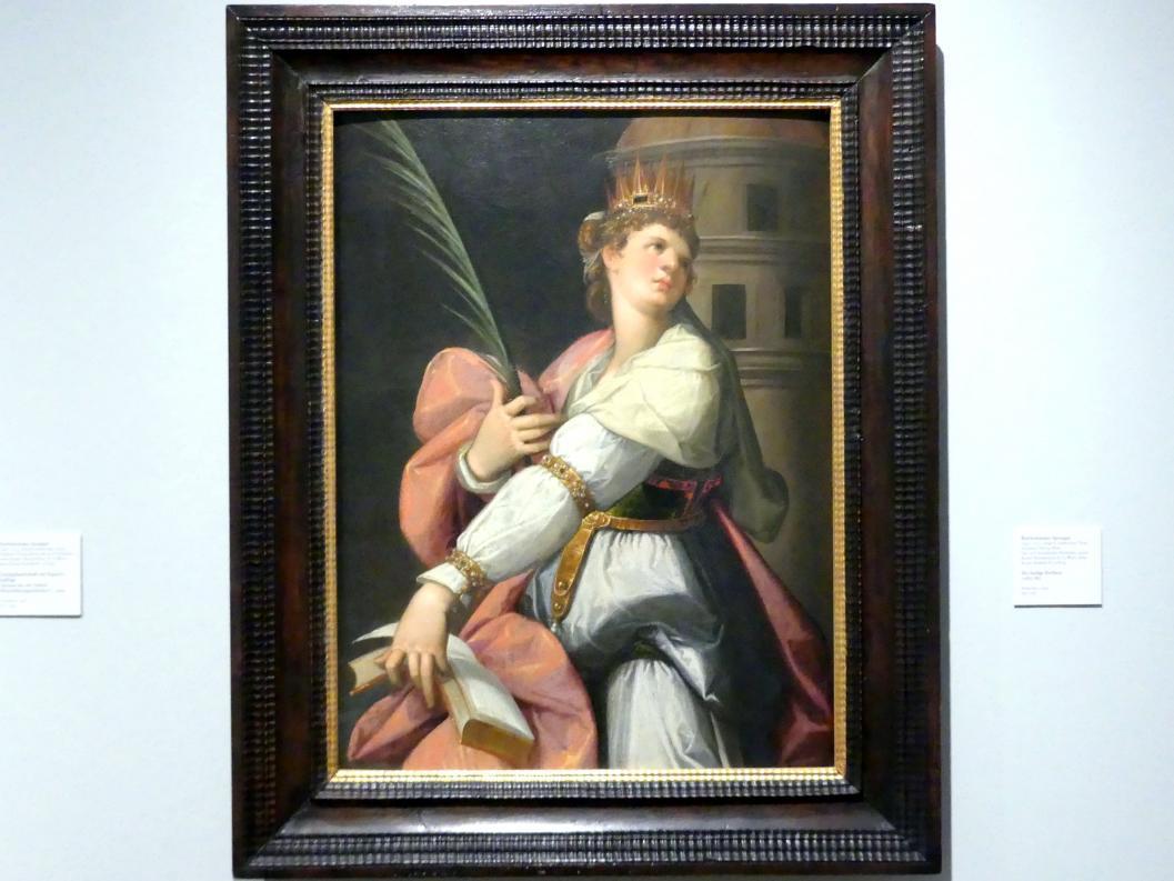 Bartholomäus Spranger: Die heilige Barbara, 1583 - 1585
