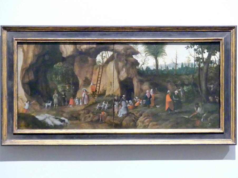 Cornelis van Dalem: Landschaft mit Nomadenfamilie, um 1570