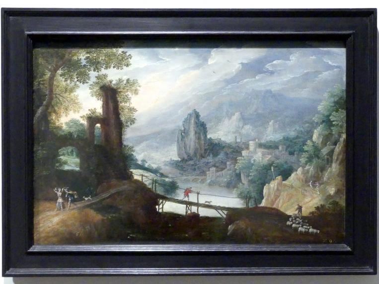 Tobias Verhaecht: Gebirgslandschaft mit Tobias und dem Engel, um 1600