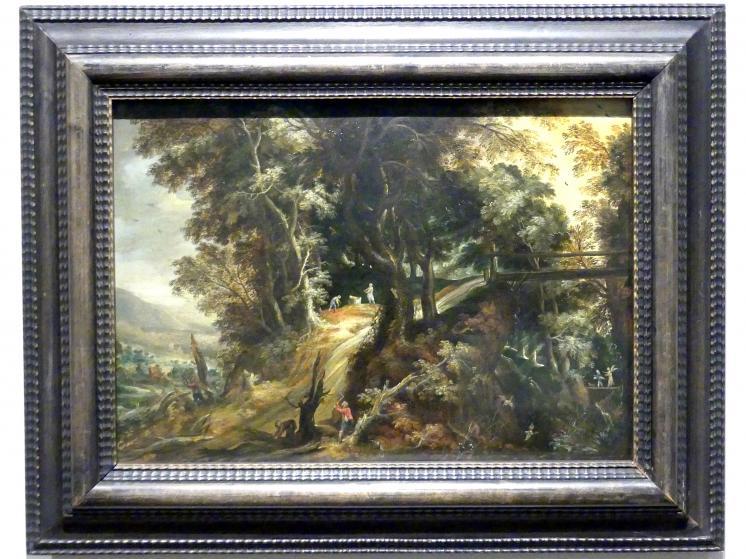 Kerstiaen de Keuninck: Waldlandschaft mit Tobias und dem Engel, 1610 - 1620