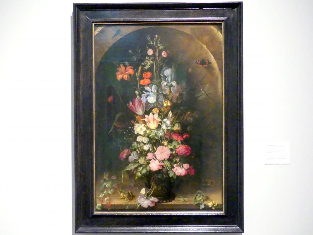 Roelant Savery: Großer Blumenstrauß in einer Nische, 1617