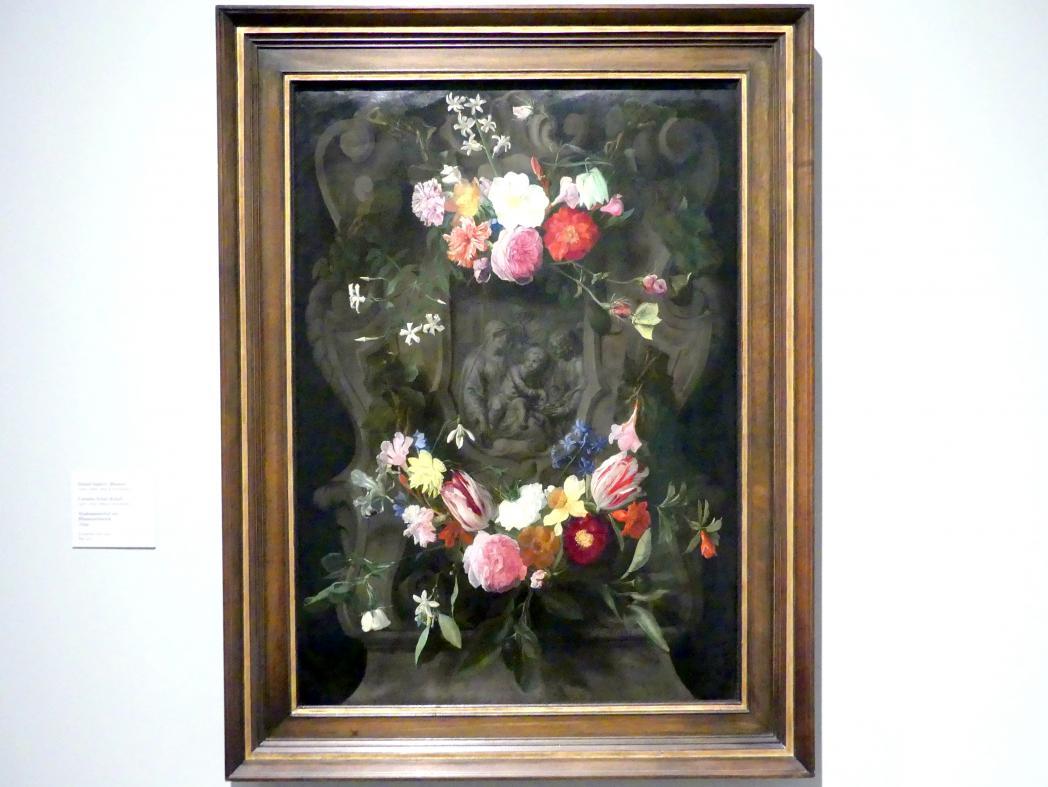 Daniel Seghers: Madonnenrelief mit Blumenschmuck, 1644
