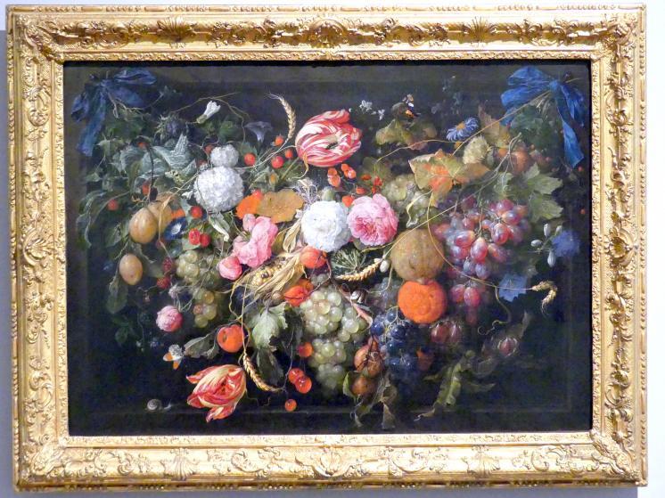 Jan Davidsz. de Heem: Girlande von Blumen und Früchten, um 1660