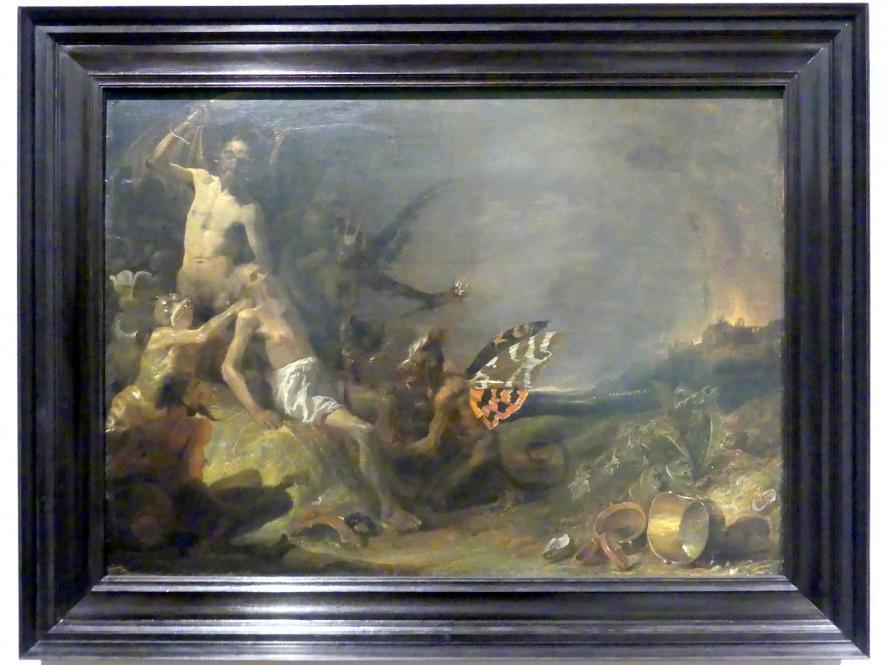 Cornelis Saftleven: Hiob, von bösen Geistern geplagt, 1631