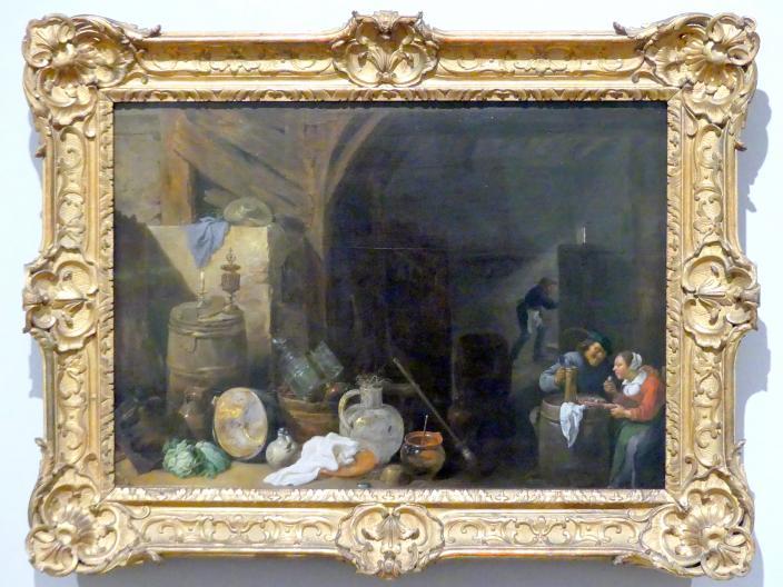 David Teniers der Jüngere: Abendessen in der Scheuen, 1634