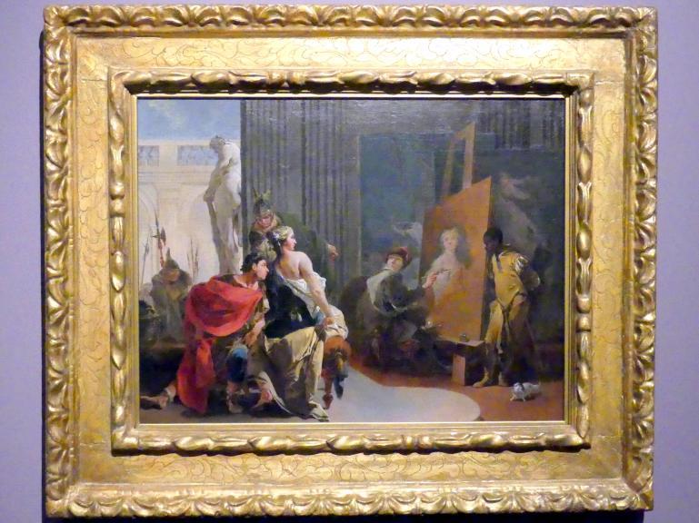 Giovanni Battista Tiepolo: Apelles malt das Bildnis der Campaspe, um 1725 - 1730