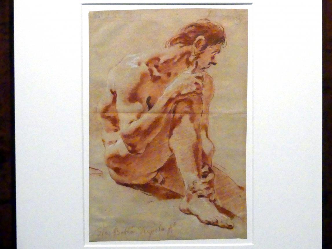 Giovanni Battista Tiepolo: Sitzender männlicher Akt, um 1715 - 1716