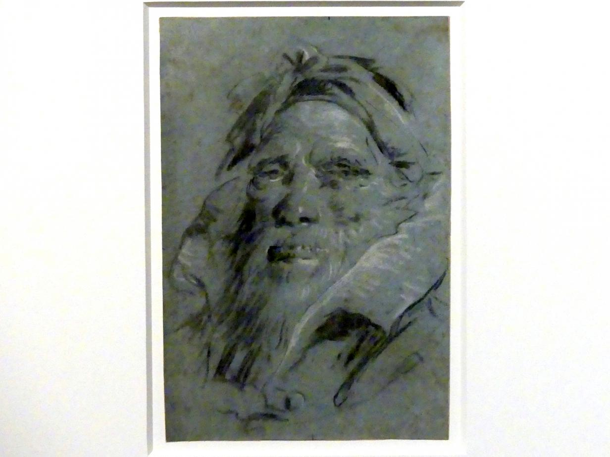 Giovanni Battista Tiepolo: Kopf eines bärtigen Orientalen, um 1760