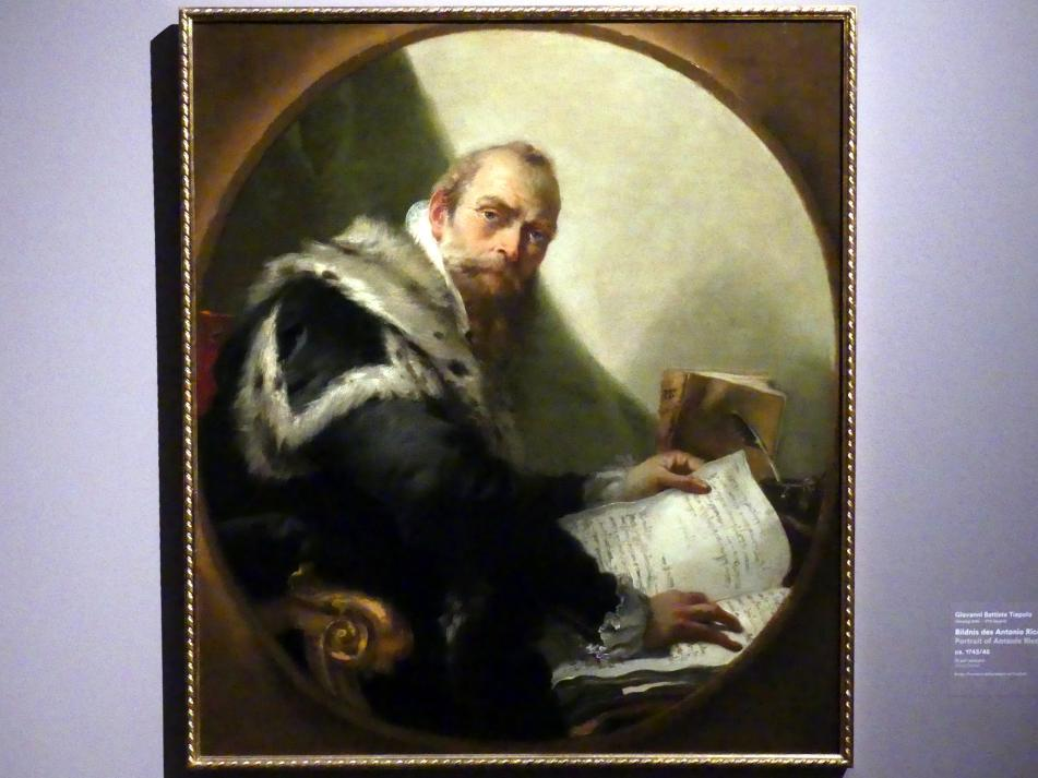 Giovanni Battista Tiepolo: Bildnis des Antonio Riccobono, um 1743 - 1745