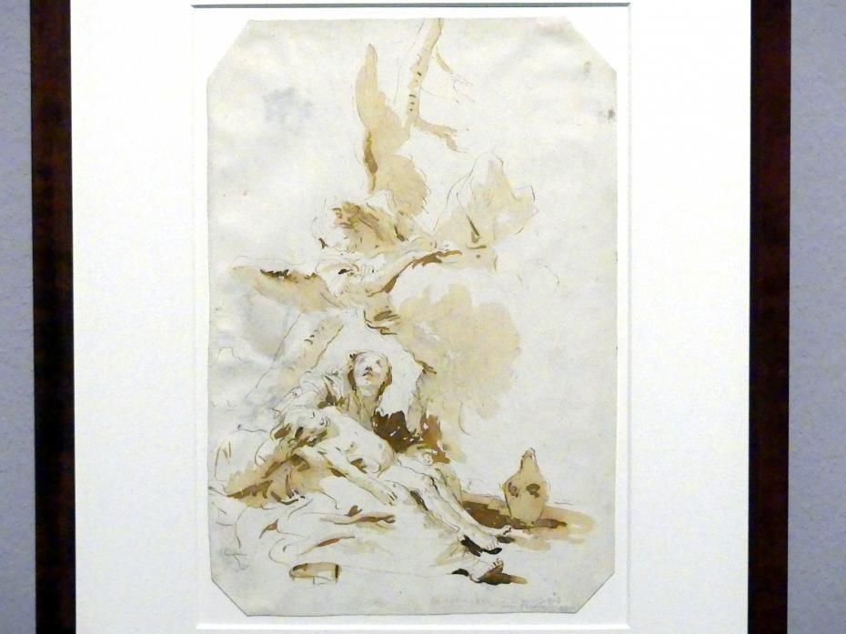 Giovanni Battista Tiepolo: Hagar und Ismael vom Engel getröstet, um 1732