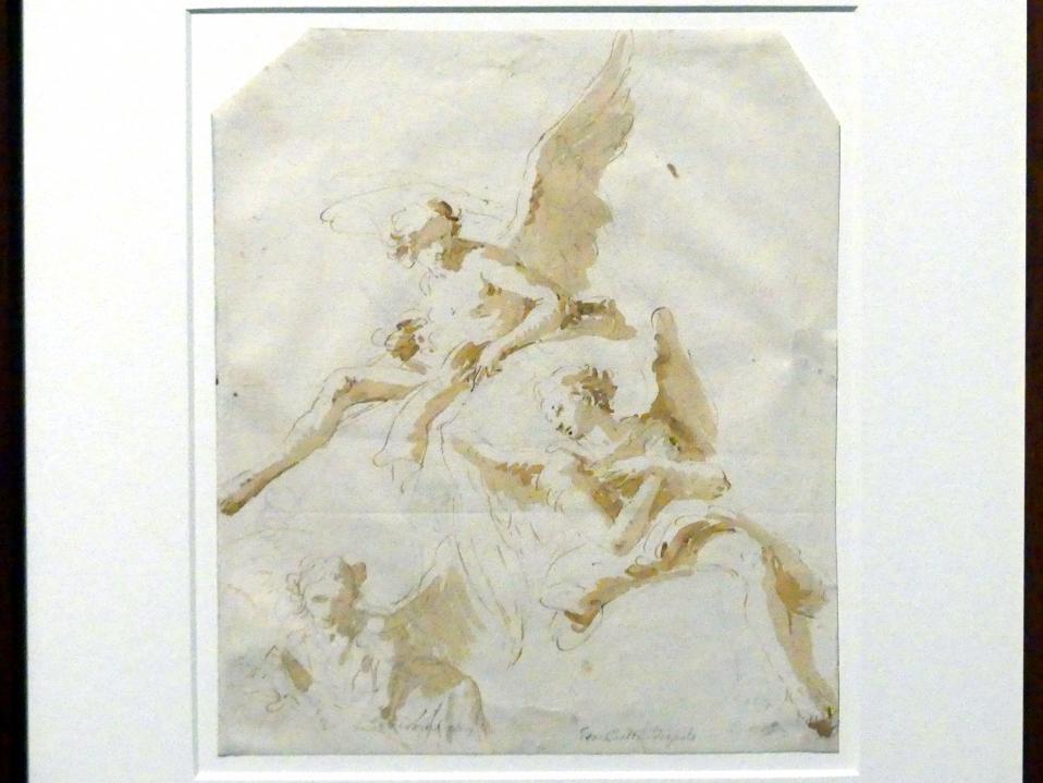 Giovanni Battista Tiepolo: Drei Engel auf Wolken, um 1732