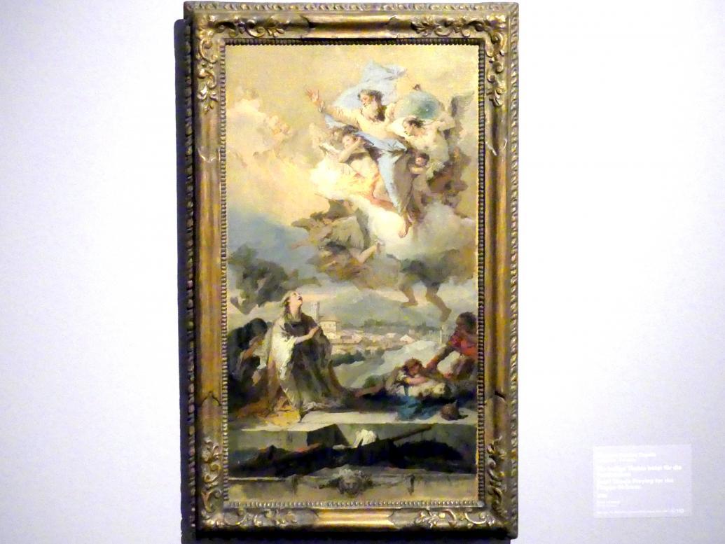 Giovanni Battista Tiepolo: Die heilige Thekla betet für die Pestkranken, 1758