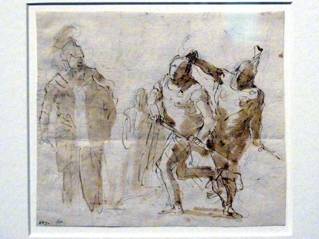 Giovanni Battista Tiepolo: Athena hält Achill zurück, Agamemnon zu töten, 1756 - 1757